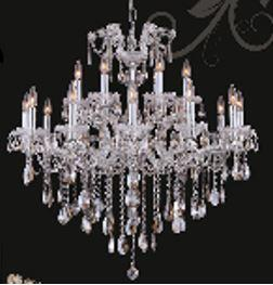 "J & P Crystal Lighting Maria Thersea 2800D34 34"" Wide Chandelier in X Finish"