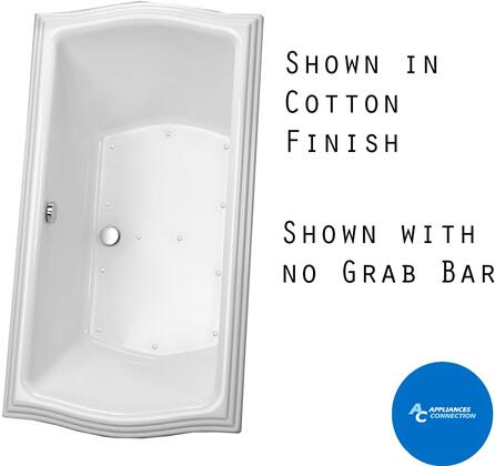 Toto ABR781S Clayton Series Drop-In Airbath Tub with Cast Acrylic Construction, Slip-Resistant Surface, and Grab Bar, White Finish