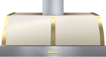 """Tecnogas Superiore HD481BTC 48"""" CSA Certified DECO Series Hood With 600 CFM Maximum Aspiration Capacity, Stainless Steel Baffle Filters, And Electronic Buttons Control: Cream With"""