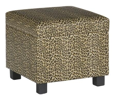 Holly & Martin 75212041310 Southern Enterprises Series Cube  Faux Leather Bench