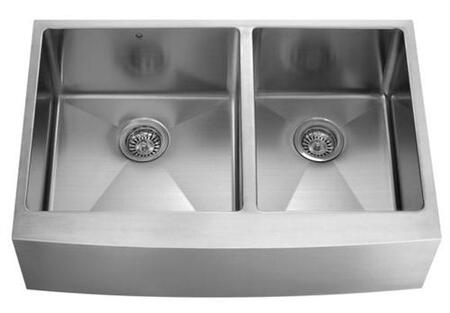 Vigo VGR3620BL Stainless Steel Kitchen Sink