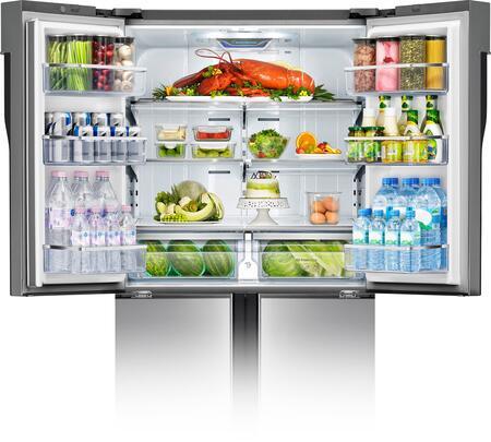 Samsung Rf32fmqdbsr 36 Inch French Door Refrigerator With