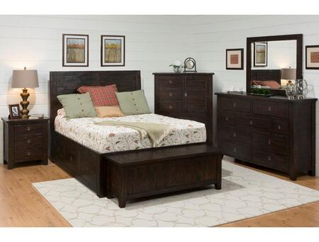 Jofran 707858687KTSET Kona Grove Queen Bedroom Sets