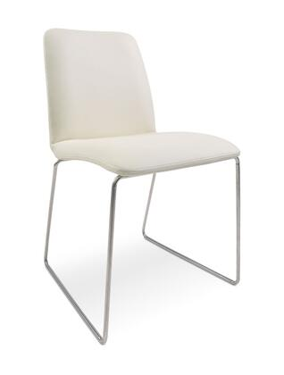 VIG Furniture VGGUHY173CHWHT Modrest Series Modern Fabric Metal Frame Dining Room Chair