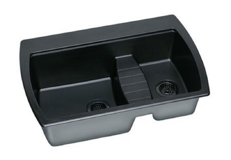 "Elkay ELQTU2218BK0 Harmony 22"" Undermount Single Bowl Quartech Sink"