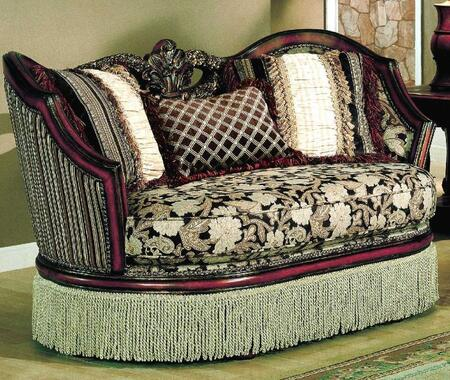 Yuan Tai SA9000L Santiago Series Fabric Sofa with Wood Frame Loveseat