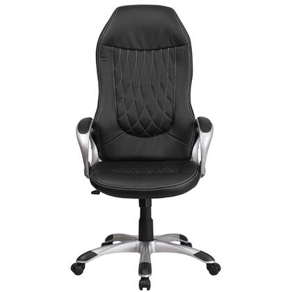 "Flash Furniture CH-CX0906H- 47"" - 51"" Executive Swivel Office Chair with High Back Design, Lumbar Support and Waterfall Seat in"