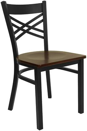 Flash Furniture XU6FOBXBKMAHWGG Hercules Series Contemporary Not Upholstered Metal Frame Dining Room Chair