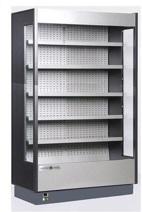 Hydra-Kool KGHxS Grab-N-Go High Profile Cases with Cu. Ft. Capacity, HP, LED Lighting, Open Front, Front Loading, in Black