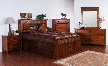 Sunny Designs 2334DCSQBDM2NC Santa Fe Queen Bedroom Sets