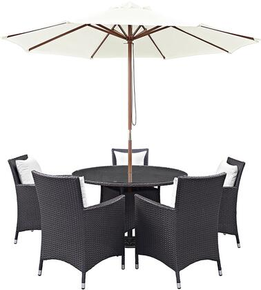 Modway EEI2193EXPWHISET Round Shape Patio Sets