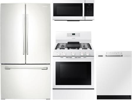 Samsung 1011528 4 piece White Kitchen Appliances Package