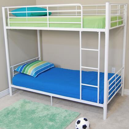 Walker Edison BTOTWH Sunrise Series  Twin Size Bunk Bed