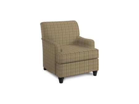 Bassett Furniture Townsend Woven Plaid Walnut BE91 8