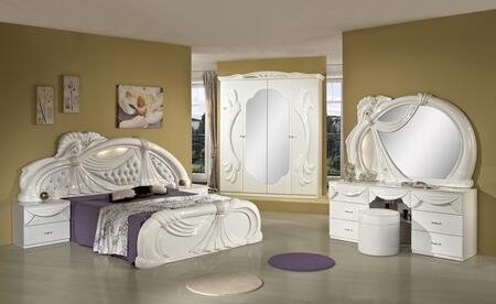 VIG Furniture VGACCGINA-WHT Modrest Gina - White Italian Classic Bedroom Set Made in Italy
