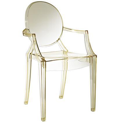 Modway EEI121YLW Casper Series Modern Not Upholstered Polyblend Frame Dining Room Chair