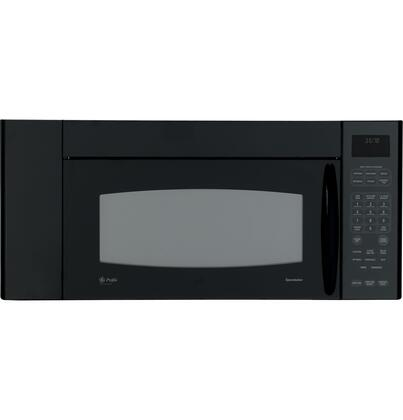 GE JVM3670BFBB 1.8 cu. ft. Over the Range Microwave Oven with 300 CFM, 1100 Cooking Watts, in Black