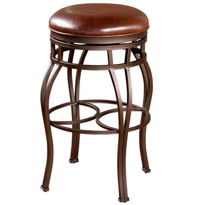 American Heritage 130715PPL322 Bella Series Residential Leather Upholstered Bar Stool |Appliances Connection