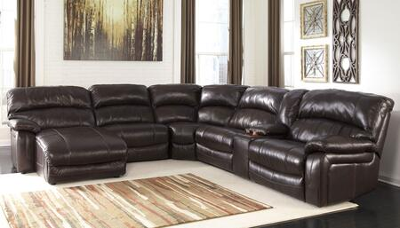 Signature Design by Ashley Damacio U9820X-79-46-77-19-57-62 6-Piece Sectional Sofa with Right Arm Power Recliner, Storage Console, Armless Recliner, Wedge, Armless Chair and Left Arm Press Back Power Chaise in