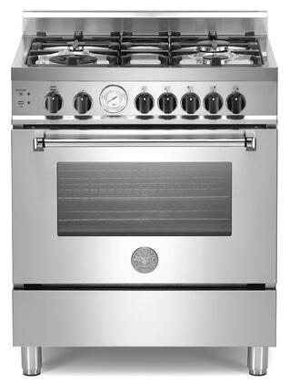 Bertazzoni A304GGVXS Master Series Gas Freestanding Range with 4 Sealed Burner Cooktop Storage 3.6 cu. ft. Primary Oven Capacity |Appliances Connection