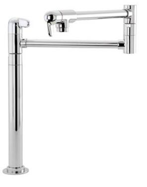 Hansgrohe 04060 Double Handle Deck Mounted Potfiller with Metal Lever Handles from the Allegro E Series: