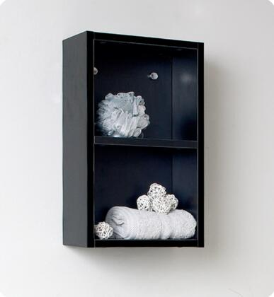 """Fresca Senza Collection FST8092 12"""" Bathroom Wall Mounted Linen Side Cabinet with Laminate MDF Construction, 2 Open Storage Areas and One Shelf in"""
