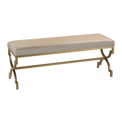 Sterling 180003 Bench Series Accent Armless Metal Fabric Bench