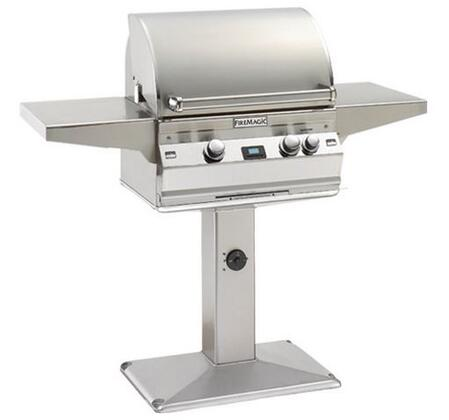 FireMagic A430S1L1NP6 Post Mount Grill, in Stainless Steel
