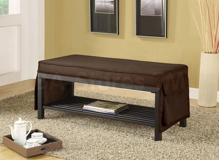 Acme Furniture 10075 Mazel Series Bench  Wood Fabric Bench