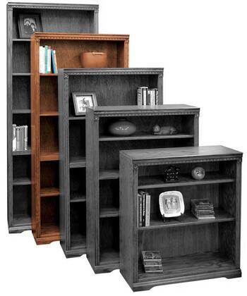 Legends Furniture SD6872RST Scottsdale Series Wood 4 Shelves Bookcase