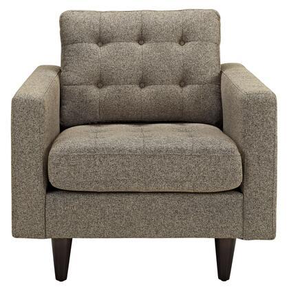 Modway EEI1013OAT Empress Series Armchair Fabric Wood Frame Accent Chair