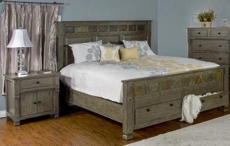 Sunny Designs 2322CGQBBEDROOMSET Scottsdale Queen Bedroom Se