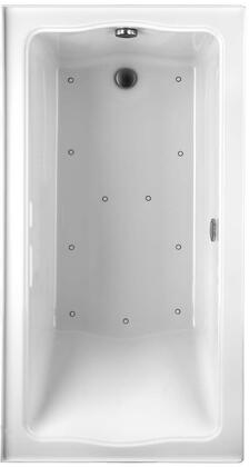 Toto ABR782L01NX Clayton Series Drop-In Airbath Tub with Acryclic Construction and Slip-Resistant Surface, White Finish