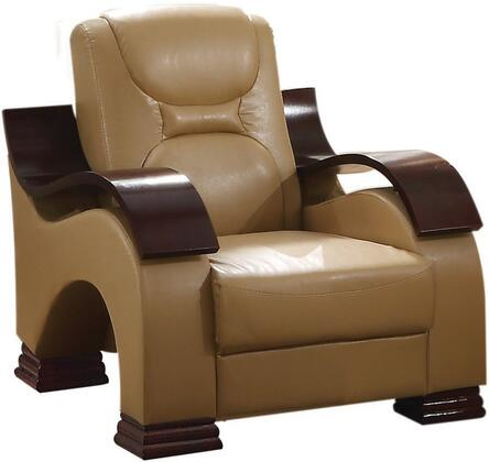 Glory Furniture G481C Faux Leather Armchair in Light Brown