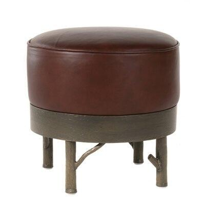 Stone County Ironworks 903120LBK Norfork Series Contemporary Leather Ottoman
