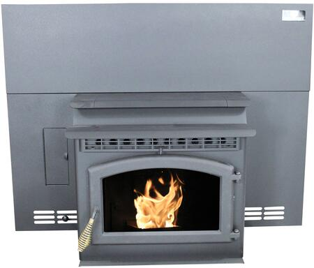 Breckwell SP23Ix Sonora Pellet Stove, with 42,000 BTUs, Auto Starter Ignition, Heavy Steel Construction, Insert, Flashing Screen, Door and Faceplate