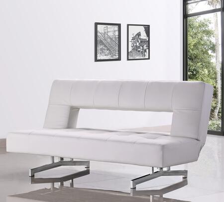 VIG Furniture VGMB0926WHT Divani Casa Wilshire Series Pull-Out Sofa