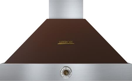 "Tecnogas Superiore HD361ACM 36"" DECO Series Pyramid Hood With 4 Speed Settings, Stainless Steel Baffle Filters, Analog Control, And 600 CFM Maximum Aspiration Capacity: Brown With"