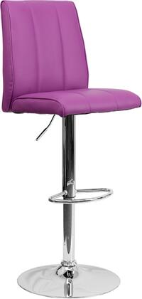 Flash Furniture CH122090PURGG Residential Vinyl Upholstered Bar Stool