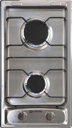 "Verona VECTG212FDS 12"" Gas Sealed Burner Style Cooktop"
