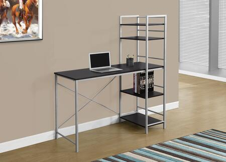 "Monarch I 716X 48"" Computer Desk with Metal Frame, Open Concept Shelves and Ample Surface Area"