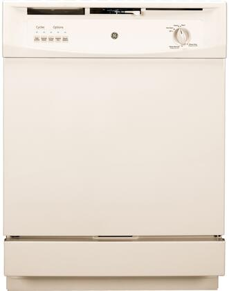 """GE GSD3300DCC 24"""" 3300 Series Built In Full Console Dishwasher"""