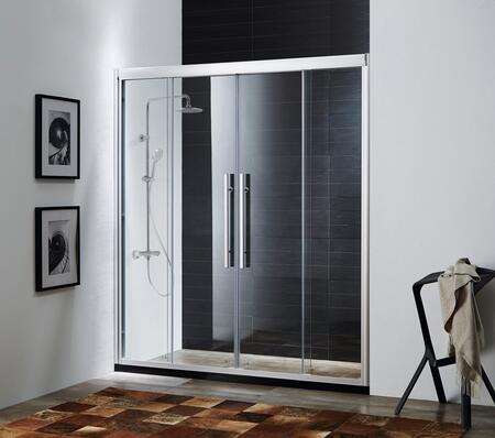 Picture of 0ADR-584b Clarity - Premium 5/16 in. (8mm) Thick Clear Tempered Glass 59 in. W x 72 in. H Sliding Shower Door in