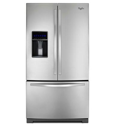 """Whirlpool WRF736SDAM 36""""  French Door Refrigerator with 24.7 cu. ft. Total Capacity 5 Glass Shelves 