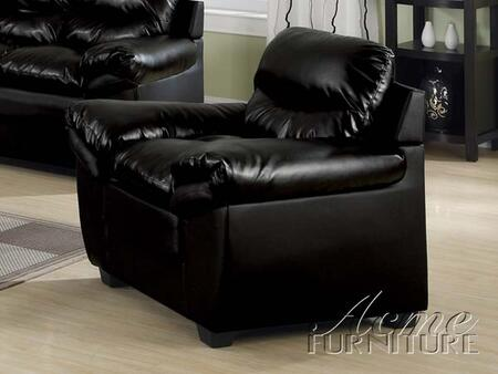 Acme Furniture 15157 Standford Series Leather Match with Wood Frame in Black