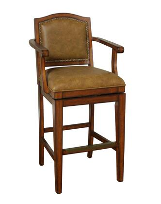 American Heritage 130900CON Martinique Series Residential Leather Upholstered Bar Stool