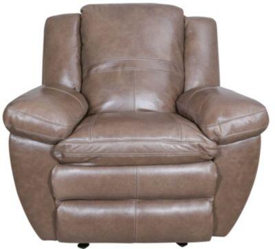 """Catnapper Aria Collection 44"""" Recliner with Decorative Luggage Stitching, Coil Seating Comfor-Gel, Pillow Top Design and Top Grain Italian Leather Upholstery"""