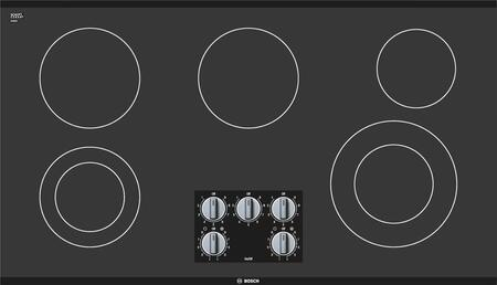 "Bosch NEM5666UC 36"" 500 Series Electric Cooktop, in Black"