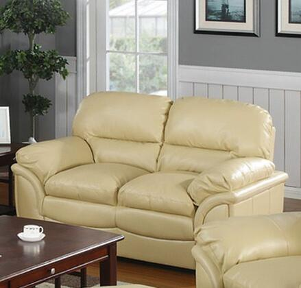 Meridian 604KHL Soho Series Bonded Leather Stationary with Wood Frame Loveseat