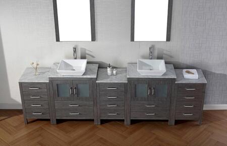 Virtu USA KD700110WMWH001 White Double Sink